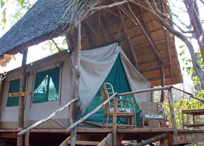 Telt i Bua River Lodge